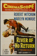"Movie Posters:Adventure, River of No Return (20th Century Fox, 1954). One Sheet (27"" X 41"").Adventure...."