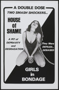 """Movie Posters:Adult, House of Shame/Girls in Bondage Combo (Unknown, 1970s). One Sheet (27"""" X 41""""). Adult...."""