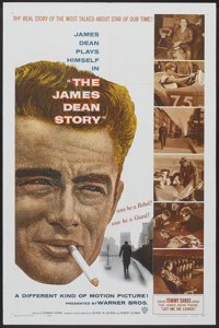 """The James Dean Story (Warner Brothers, 1957). One Sheet (27"""" X 41""""). Documentary"""