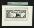 Large Size:Demand Notes, Fr. UNL Hessler NBE16a $10 National Bank Circulating Note Back Proof circa 1874....