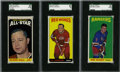 Hockey Cards:Lots, 1964-65 Topps Hockey SGC-Graded Group Lot of 3....