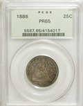 Proof Seated Quarters: , 1886 25C PR65 PCGS. PCGS Population (32/36). NGC Census: (33/37).Mintage: 886. Numismedia Wsl. Price for NGC/PCGS coin in ...