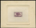 Stamps, #772P1a, 1935, 3c Violet, Large Die Proof on White Wove Paper....