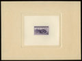 Stamps, #925P1a, 1944, 3c Deep Violet, Large Die Proof on White Wove Paper....