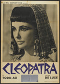 "Movie Posters:Historical Drama, Cleopatra (Dear Film, 1963). Italian 2 - Folios (2) (39"" X 55"")Elizabeth Taylor and Rex Harrison Styles. Historical Drama....(Total: 2 Items)"