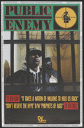 "Movie Posters:Rock and Roll, Public Enemy Promo Poster (Def Jam Recordings, 1988). Music Poster(30"" X 45.75""). ""It Takes a Nation of Millions to Hold Us..."