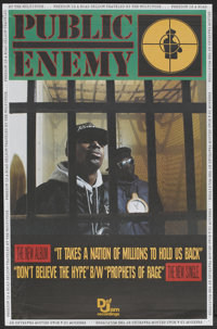 """Public Enemy Promo Poster (Def Jam Recordings, 1988). Music Poster (30"""" X 45.75""""). """"It Takes a Nation of..."""