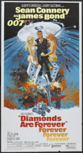 "Movie Posters:James Bond, Diamonds Are Forever (United Artists, 1971). Three Sheet (41"" X 81""). James Bond...."