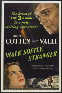 "Walk Softly, Stranger (RKO, 1950). One Sheet (27"" X 41""). Crime"
