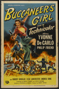"Movie Posters:Action, Buccaneer's Girl (Universal International, 1950). One Sheet (27"" X41""). Action...."