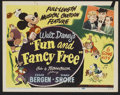 "Movie Posters:Animated, Fun and Fancy Free (RKO, 1947). Lobby Card Set of 8 (11"" X 14"").Animated.... (Total: 8 Items)"