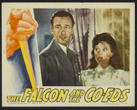 """The Falcon and the Co-eds Lot (RKO, 1943). Lobby Cards (7) (11"""" X 14""""). Crime.... (Total: 7 Items)"""