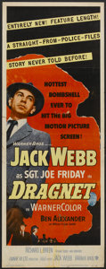 "Movie Posters:Crime, Dragnet (Warner Brothers, 1954). Insert (14"" X 36""). Crime...."