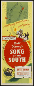 """Movie Posters:Animated, Song of the South (RKO, 1946). Insert (14"""" X 36""""). Animated...."""