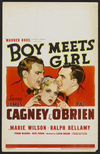 "Boy Meets Girl (Warner Brothers, 1938). Window Card (14"" X 22""). Comedy"