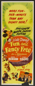 "Movie Posters:Animated, Fun and Fancy Free (RKO, 1947). Insert (14"" X 36""). Animated...."