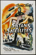 "Movie Posters:Science Fiction, Satan's Satellites (Republic, 1958). One Sheet (27"" X 41"") FlatFolded. Science Fiction...."
