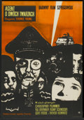 "Movie Posters:War, Triple Cross (Warner Brothers, 1967). Polish One Sheet (22.25"" X32.25""). War...."