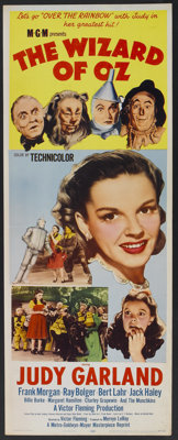 """The Wizard of Oz (MGM, R-1955). Insert (14"""" X 36""""). Fantasy"""