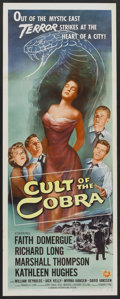 "Movie Posters:Horror, Cult of the Cobra (Universal International, 1955). Insert (14"" X 36""). Horror...."