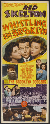"Whistling in Brooklyn (MGM, 1943). Insert (14"" X 36""). Comedy"