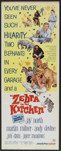 "Movie Posters:Comedy, Zebra in the Kitchen (MGM, 1965). Insert (14"" X 36""). Comedy...."