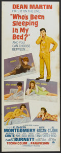 "Movie Posters:Comedy, Who's Been Sleeping in My Bed? (Paramount, 1963). Insert (14"" X 36""). Comedy...."