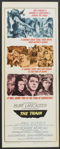 "Movie Posters:War, The Train (United Artists, 1965). Insert (14"" X 36""). War...."