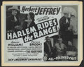 """Movie Posters:Black Films, Harlem Rides the Range Lot (Sack Amusement Enterprises, R-1940s).Title Lobby Card (11"""" X 14"""") and Lobby Card (10.5"""" X 13.5""""...(Total: 2 Items)"""