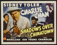 """Shadows over Chinatown (Monogram, 1946). Title Card and Lobby Cards (5) (11"""" X 14""""). Mystery.... (Total: 6 Ite..."""