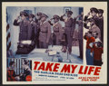 """Movie Posters:Black Films, Take My Life Lot (Consolidated, 1942). Lobby Cards (2) (11"""" X 14"""").Black Films.... (Total: 2 Items)"""