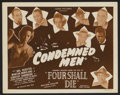 """Movie Posters:Crime, Four Shall Die (Toddy Pictures, R-1940s). Title Lobby Card (11"""" X 14""""). Crime. Re-released as Condemned Men. ..."""