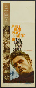 """Movie Posters:Documentary, The James Dean Story (Warner Brothers, 1957). Insert (14"""" X 36""""). Documentary...."""