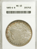 1893-O $1 MS63 ANACS. NGC Census: (142/36). PCGS Population (285/96). Mintage: 300,000. Numismedia Wsl. Price for NGC/PC...