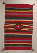 American Indian Art:Weavings, A NAVAJO GERMANTOWN WEAVING. c. 1890...