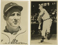 Autographs:Post Cards, Hank Greenberg Signed Postcard with Bob Lemon Postcard. This pairof Hall of Fame greats are each featured in their Clevela...