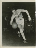 """Autographs:Photos, George R. Mikan Signed Photograph. Classic image of the earlybespectacled big man. Signature reads """"George R. Mikan"""" in 1..."""