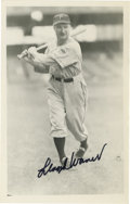 "Autographs:Post Cards, Lloyd Waner Signed Rowe Postcard. Pittsburgh's Lloyd ""LittlePoison"" Waner provides a flawless black sharpie signature to t..."
