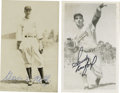 Autographs:Post Cards, George Kelly and Sandy Koufax Signed Postcards Lot of 2. Each of this fine pair of Rowe postcards has been signed by one of...