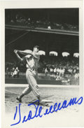 Autographs:Post Cards, Ted Williams Signed Rowe Postcard. From the elegant Rowe postcardseries we gladly present this exceptional image of the Sp...