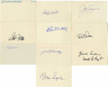 "Autographs:Index Cards, Vintage Baseball Stars Signed Index Cards Lot of 10. Assortment of ten 3x5"" index cards comes to us via vintage baseball st..."