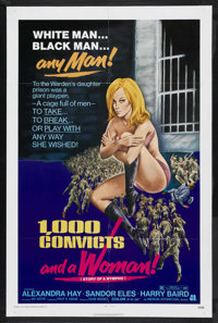 """1,000 Convicts and a Woman (American International, 1971). One Sheet (27"""" X 41""""). Bad Girl. Starring Alexandra..."""