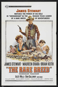 "The Rare Breed (Universal, 1966). One Sheet (27"" X 41""). Western. Starring James Stewart, Maureen O'Hara, Bria..."