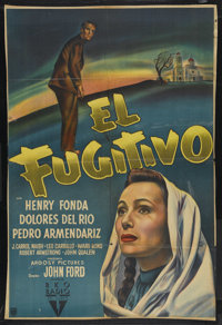 "The Fugitive (RKO, 1947). Argentinean One Sheet (28"" X 41.5""). Drama. Starring Henry Fonda, Dolores del Rio, P..."