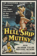 "Movie Posters:Adventure, Hell Ship Mutiny (Republic, 1957). One Sheet (27"" X 41"").Adventure. Starring Jon Hall, John Carradine, Peter Lorre,Roberta..."