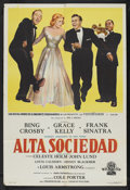 "Movie Posters:Musical, High Society (MGM, 1956). Argentinean One Sheet (29"" X 43""). Musical. Starring Bing Crosby, Grace Kelly, Frank Sinatra, Cele..."