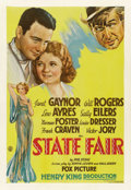 "Movie Posters:Musical, State Fair (Fox, 1933). One Sheet (27"" X 41"") Style B. ..."