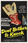 "Movie Posters:Thriller, Don't Bother to Knock (20th Century Fox, 1952). One Sheet (27"" X41""). ..."