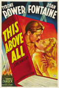 "Movie Posters:War, This Above All (20th Century Fox, 1942). One Sheet (27"" X 41"")Style B...."