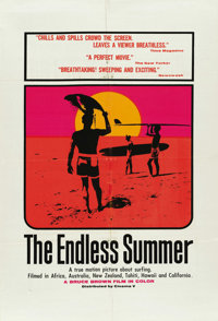 "The Endless Summer (Cinema V, 1966). One Sheet (27"" X 41"") and (11) Stills (8"" X 10"").... (Total: 12..."